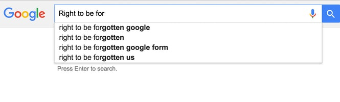 Although the comment was removed from the newspaper's site, Google's Autofill feature was still quick to find it.