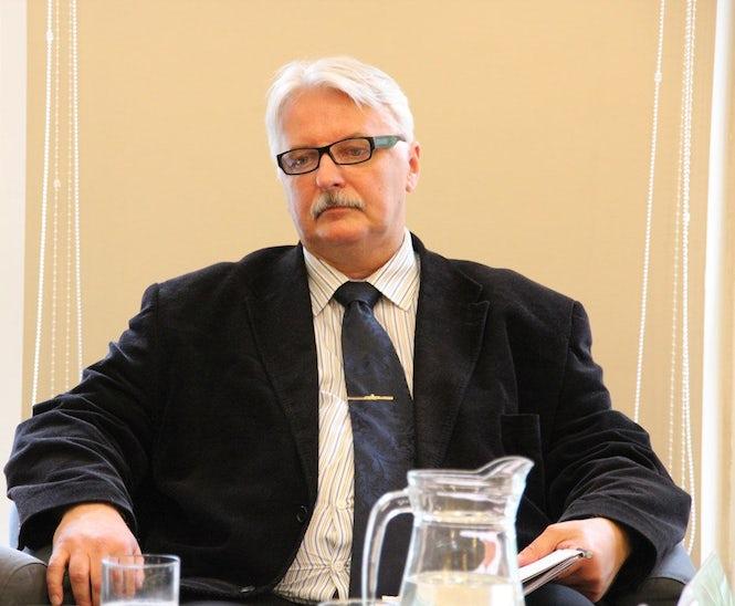 El ministro de Asuntos Exteriores, Witold Waszczykowski, dijo que el presidente del Tribunal constitucional se estaba comportando como un ayatolá de Irán. (Imagen: Instituto Polaco de Asuntos Internacionales - Flickr contenido / CC)