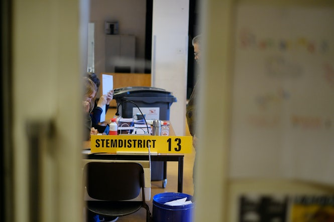 Election officials at a polling station in Utrecht during the 2017 Dutch general election. The voting rights of the disabled were not well explained to election workers, the OSCE says. (Image: Sebastiaan ter Burg)