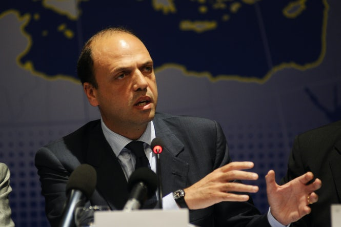Interior Minister Angelino Alfano championed the 2009 law that criminalized irregular immigration.