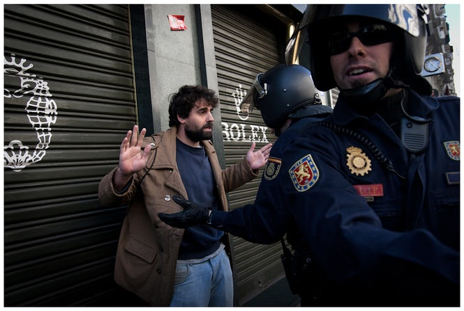 Ethnic profiling is quite common in Spain, where police are empowered to initiate migration-related procedures.  (Montecruz Foto)