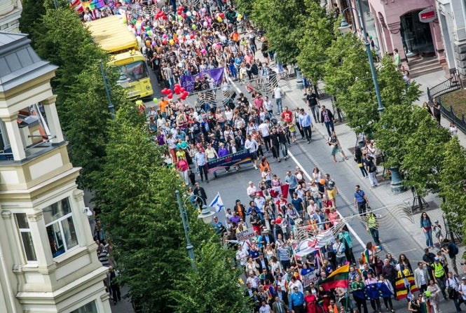 Although Lithuania is one of the few EU countries offering no legal protection for same-sex couples, events like Baltic Pride are gaining strong support from citizens.  (Image: Baltic Pride)