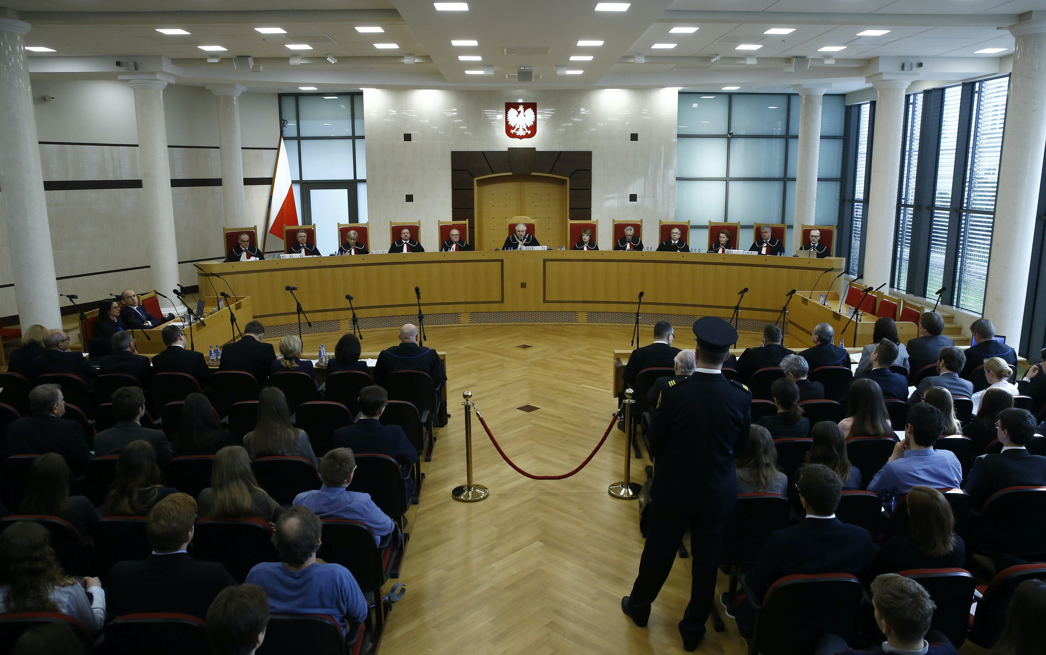 Several judges of the Constitutional Tribunal, seen here, dissented from the majority opinion and pointed out that some of their colleagues were improperly appointed to the bench.