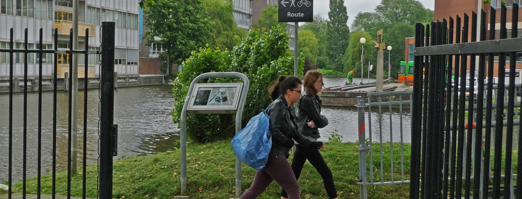 A photo of two students  walking on the university campus roeterseiland  amsterdam  high resolution image by fotodutch in june 2013.jpg?ixlib=rails 0.3