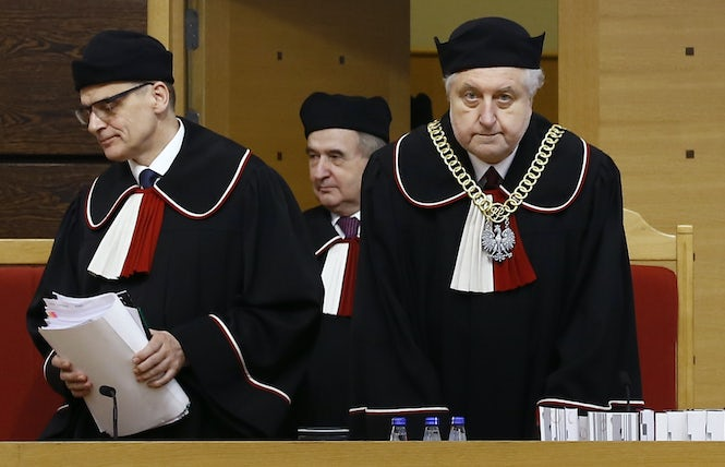 The court said that it could not perform its work under the new act and found it unconstitutional in every respect. (REUTERS/Kacper Pempel)