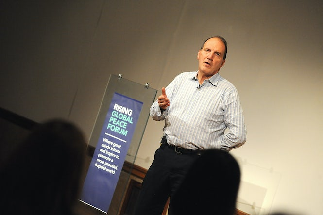 Sir Simon Hughes is a proponent of stop forms as a means to reduce ethnic profiling.  (Image: Rising Global Peace Forum - Flickr/CC content)