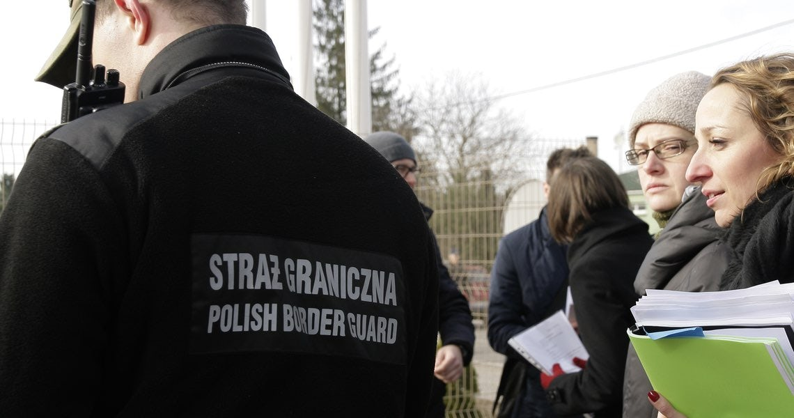 The guards' decision to return the man not only violated the ECHR, it also violated Polish law. (Image: HFHR)