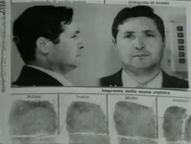 An arrest file for Salvatore Riina. The former mafia boss, now 86 and in poor health, has spent the last 24 years in prison.