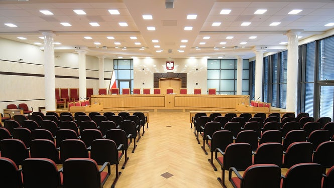 The crisis was caused by changes to laws on the Constitutional Tribunal, seen here, and the appointment of new judges.  (Image: Adrian Grycuk)