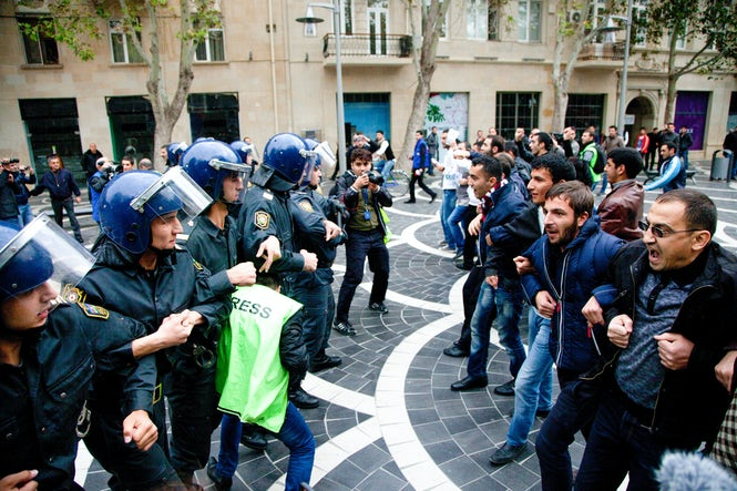 Approximately 200 protesters were arrested in rallies ahead of the constitutional referendum. (Image: Freedom House)