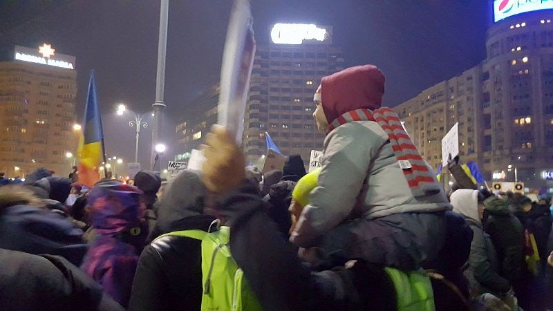 Protests have continued each night since the act, which will enter into force on February 11, was passed.